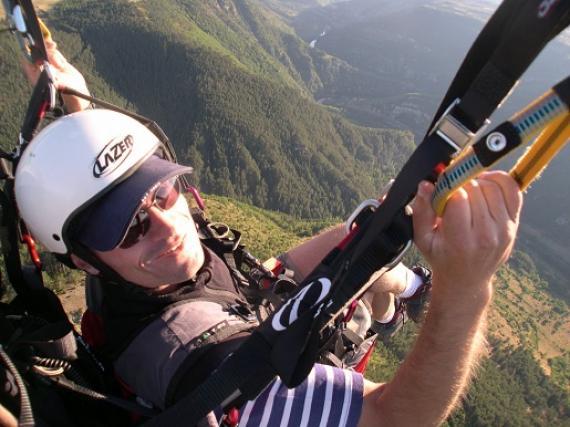 Vol au dessus du vallon d'Ispagnac