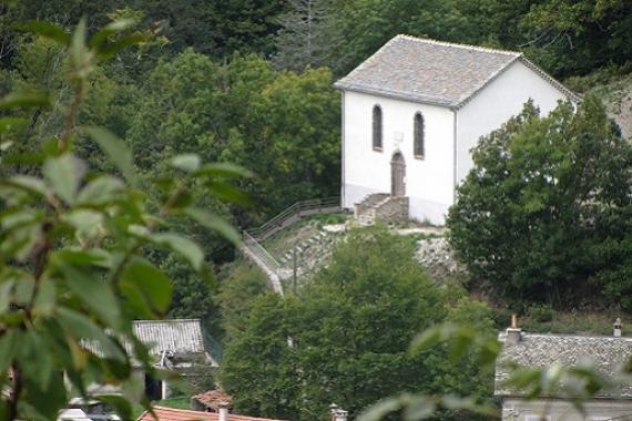 le temple en haut du Village
